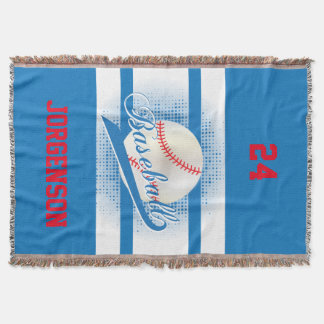 Blaue Retro Baseball-Art Decke