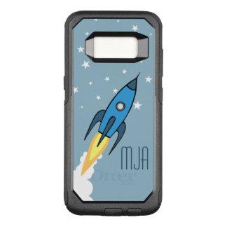 Blaue Retro Rocketship personalisierte OtterBox Commuter Samsung Galaxy S8 Hülle