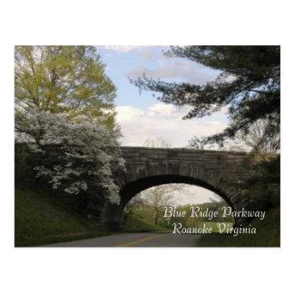 Blaue Ridge-Allee-Postkarte Postkarte