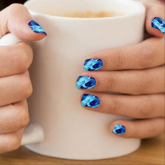 Blaue Rohre Minx Nagelkunst