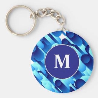 Blaue Rohre Schlüsselanhänger