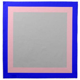 Blaue rosa und Silber-Farbige Servietten