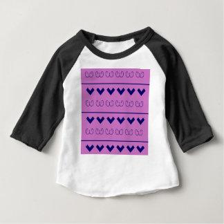 Blaue rosa Verzierungen Baby T-shirt