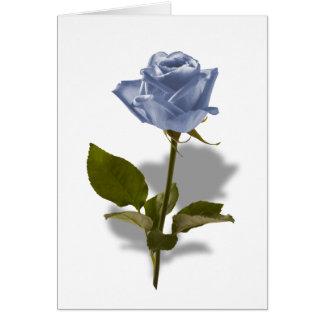 Blaue Rose der Verzauberung Karte