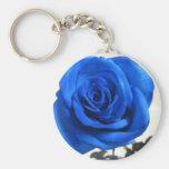 Blaue Rose Keychain Schlüsselanhänger