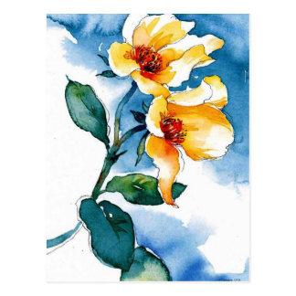 blaue Rose Postkarten