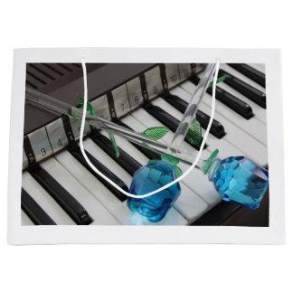 Blaue Rosen auf Organ Große Geschenktüte