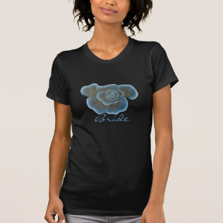 Blaue Rosen-Blumen-Brautt-shirts T-Shirt