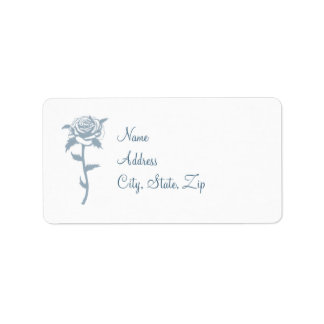 Blaue Rosen-Hochzeits-Adressen-Etiketten Adress Aufkleber