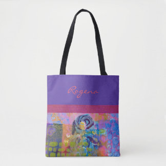 Blaue Rosen - lila u. rosa - Handtasche/Tasche Tasche