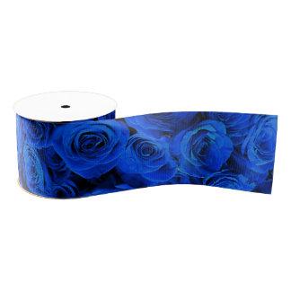 Blaue Rosen Ripsband