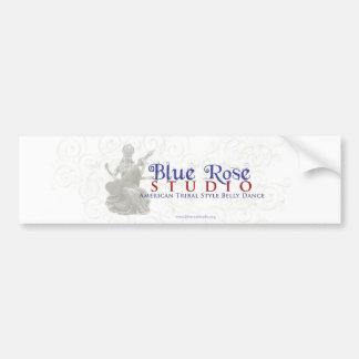 Blaue Rosen-Studio-Waren Autoaufkleber