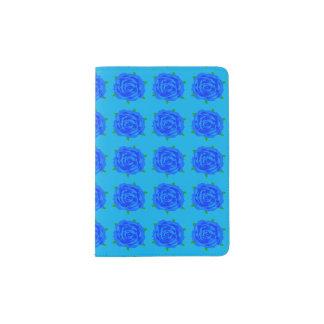 Blaue Rosen-Wiederholung auf Pass-Halter Passhülle