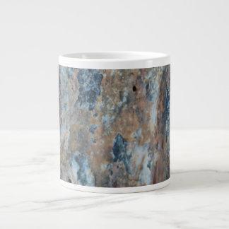Blaue Rost-Schwarz-Mineral-Beschaffenheit Jumbo-Tasse