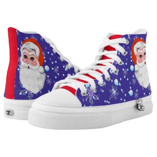 """Blaue Rot frohe Weihnachten """"Weihnachtsmanns u. Hoch-geschnittene Sneaker"""