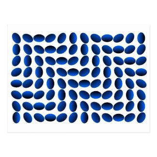 Blaue Saphir-optische Täuschung Postkarte