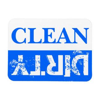 Blaue saubere und schmutzige Spülmaschine Vinyl Magnete