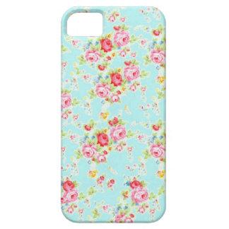 Blaue schäbige Rosen-Blumen der Vintagen iPhone 5 Case