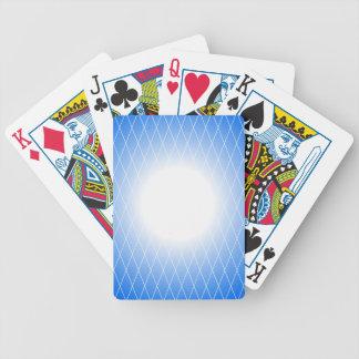 Blaue Schablone Bicycle Spielkarten