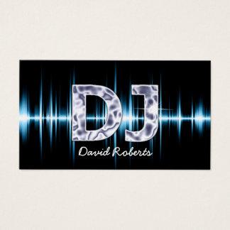 Blaue Schallwelle-berufliche Diskjockey-Musik DJ Visitenkarte