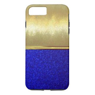 Blaue Schein-Diamant-Beschaffenheit iPhone 7 iPhone 8 Plus/7 Plus Hülle
