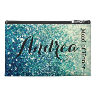 Blaue Schein-Make-upzusatz-Tasche Reisekulturtasche