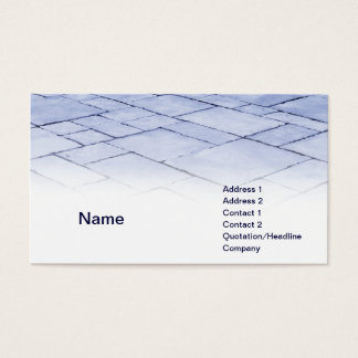 blaue Schiefer Visitenkarte