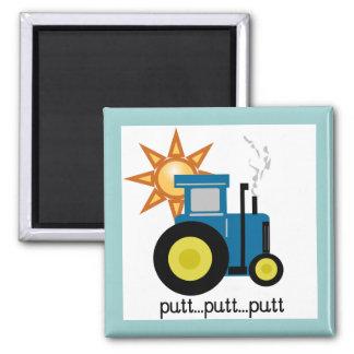 Blaue Schlag-Schlag-Traktor-T-Shirts und Geschenke Kühlschrankmagnete