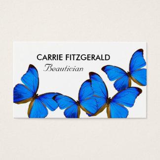 Blaue Schmetterlinge, Beautician Visitenkarte