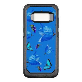 Blaue Schmetterlinge, Eisvögel und Bell-Blumen, OtterBox Commuter Samsung Galaxy S8 Hülle