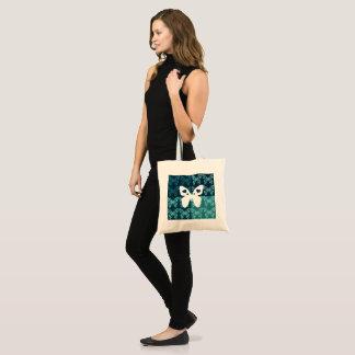 Blaue Schmetterlings-Budget-Tasche Tragetasche