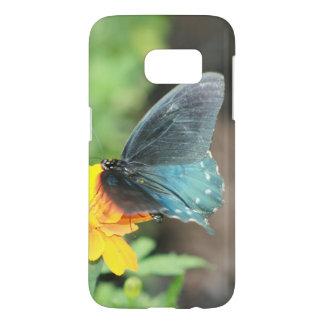 Blaue Schmetterlings-Gelbcoreopsis-Sommer-Produkte