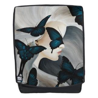 Blaue Schmetterlings-Maske Rucksack