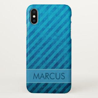 Blaue Schmutz-Streifen-Gewohnheit iPhone X Hülle