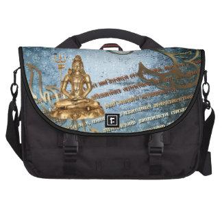 blaue SchmutzdamastgoldShiva Pendler-Tasche Notebook Tasche
