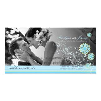 Blaue Schnee-Blumen-Wirbels-Winter-Hochzeit danken