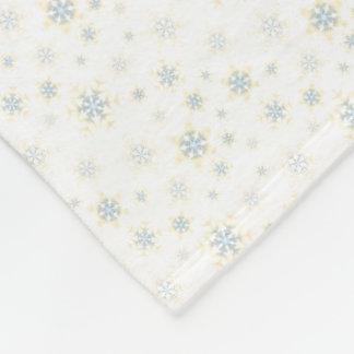Blaue Schneeflocke-Fleece-Decke 3 Fleecedecke