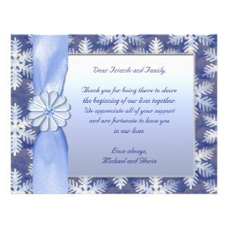 Blaue Schneeflocke-Kristallfeier 21,6 X 27,9 Cm Flyer