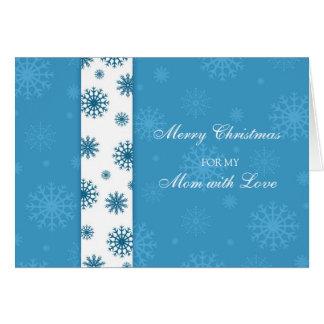 Blaue Schneeflocke-Mutter-frohe Weihnacht-Karte Karte