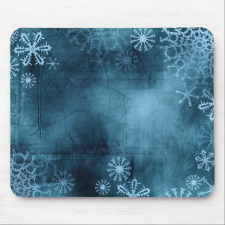 Blaue Schneeflocke-Schmutz-Mausunterlage Mousepad