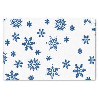 Blaue Schneeflocken Seidenpapier