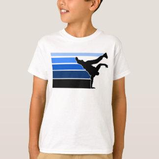Blaue Schwarz-Kinder BBOY Steigung T-Shirt