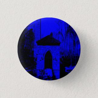 Blaue/schwarze Schloss-Fronten-kleiner runder Runder Button 2,5 Cm