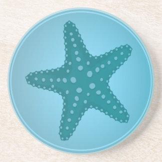 Blaue Seashells - Starfish Getränkeuntersetzer