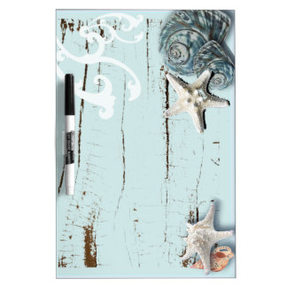 Blaue Seashells Starfish Küstenaqua der scheune Memoboard