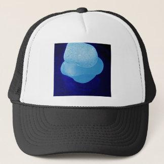 Blaue Seeglas-Reflexionen Truckerkappe