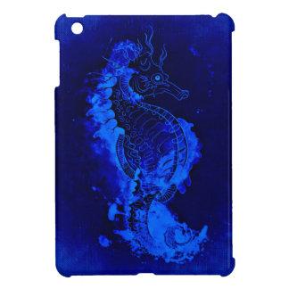 Blaue Seepferd-Malerei iPad Mini Hülle
