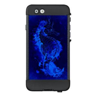 Blaue Seepferd-Malerei LifeProof NÜÜD iPhone 6 Hülle