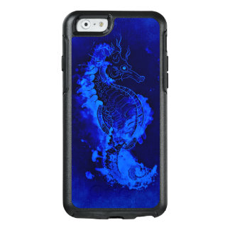 Blaue Seepferd-Malerei OtterBox iPhone 6/6s Hülle