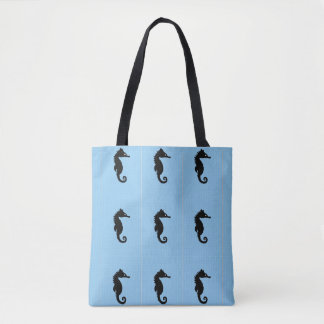 Blaue Seepferd-Tasche